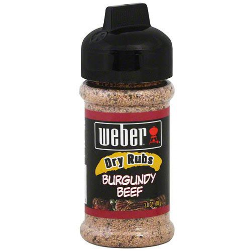 Weber Burgundy Beef Seasoning, 3 oz (Pack of 6)
