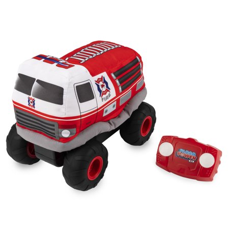 Plush Power RC, Remote Control Fire Truck with Soft Body and 2-Way Steering, for Kids Aged 3 and Up