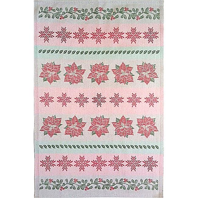 Mierco European Jacquard Woven Holiday Tea Towel - 20 x 30 in.