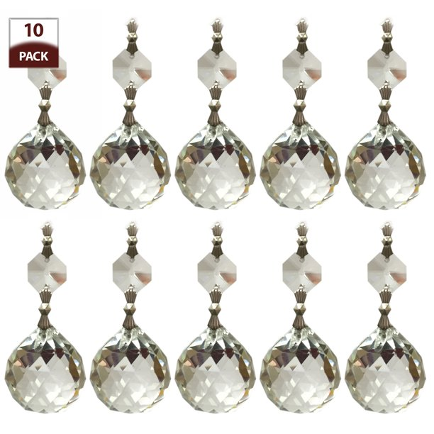 Royal Designs 10 Pack Chandelier, Chandelier Replacement Crystals