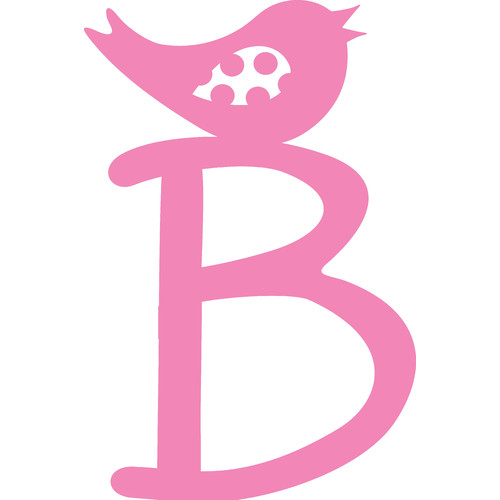 Enchantingly Elegant Letter ''B'' with Bird Wall Decal