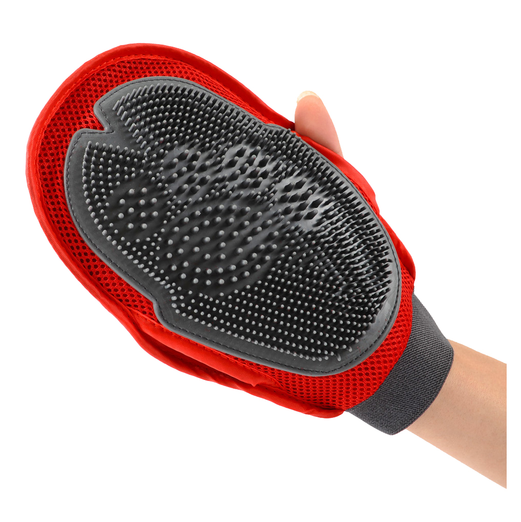 Massage True Glove Touch Deshedding Gentle Efficient Pet Grooming Dogs&Cats Bath