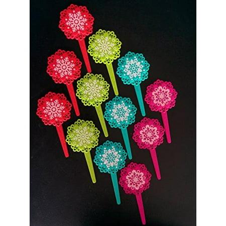 - Snowflake Cupcake Picks