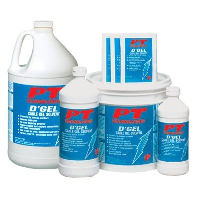 PT Technologies D'Gel  Cable Gel Solvents - d'gel cable cleaner wipes (Set of 144)