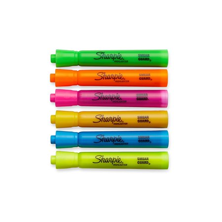 Accent Tank Style Highlighters  6 Colored Highlighters  25076  6 Pack  Us  Brand Sharpie