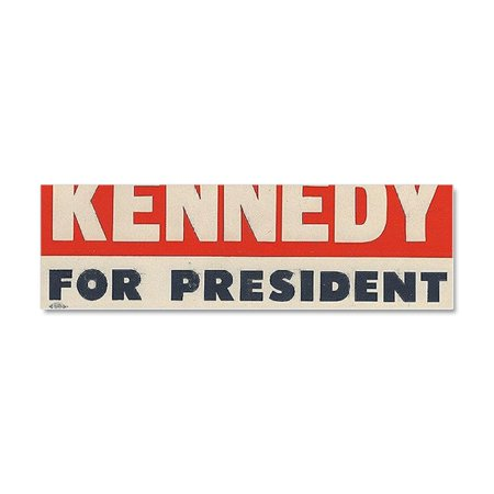 Kennedy Card - CafePress - Kennedy For President Bumper Sti - Car Magnet 10 x 3