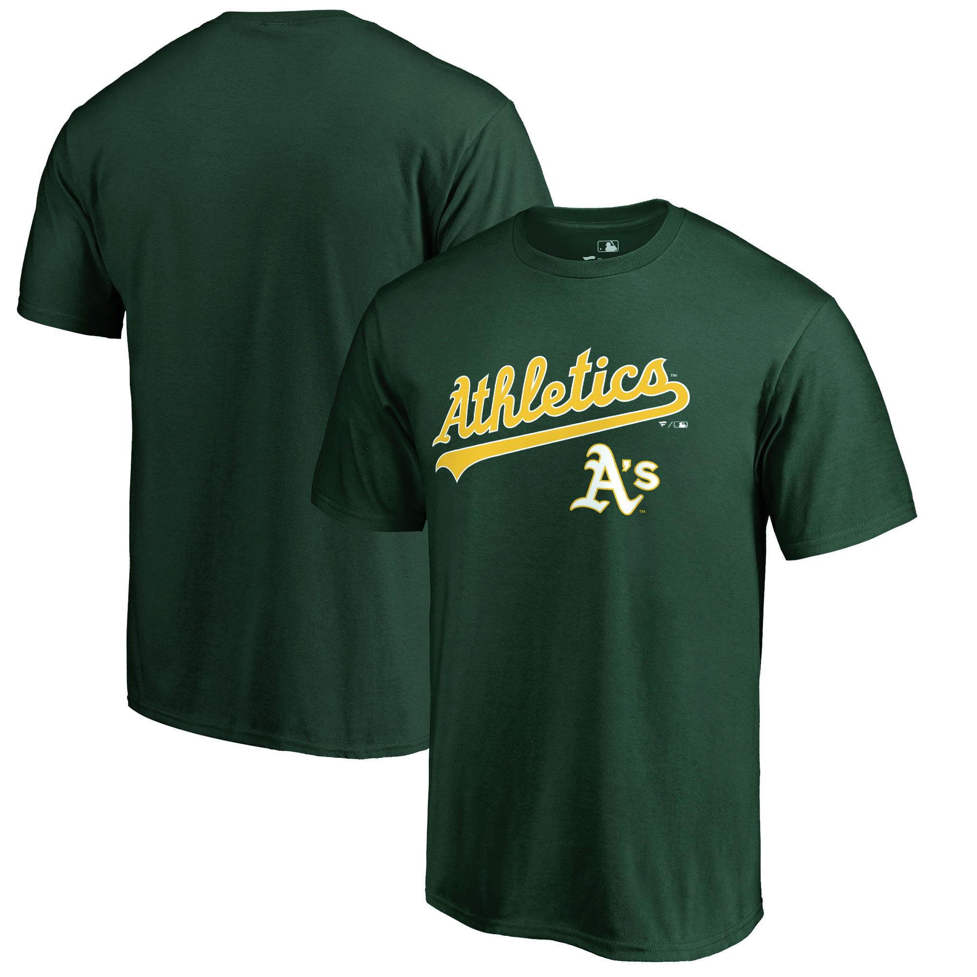 Oakland Athletics Fanatics Branded Team Lockup T-Shirt - Green
