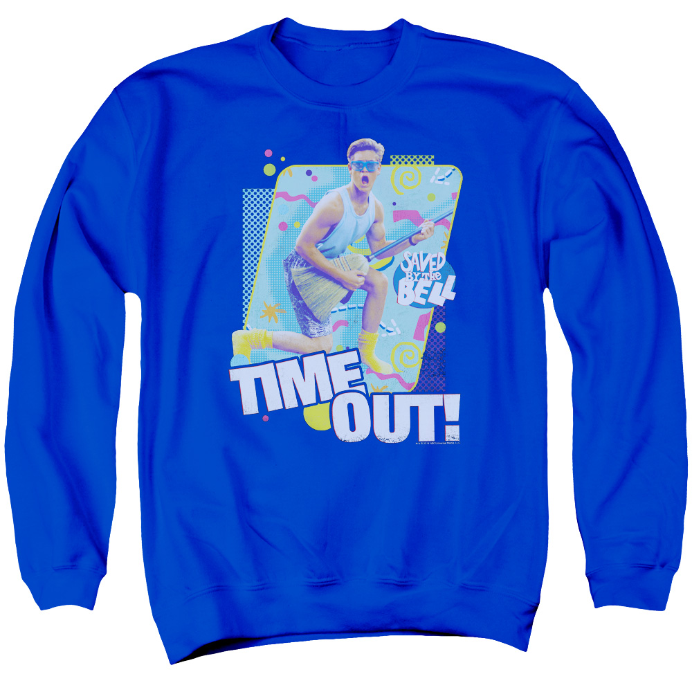 Saved By The Bell Time Out Mens Crewneck Sweatshirt