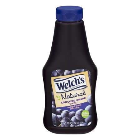 (3 Pack) Welch's Natural Concord Grape Spread, 18 oz