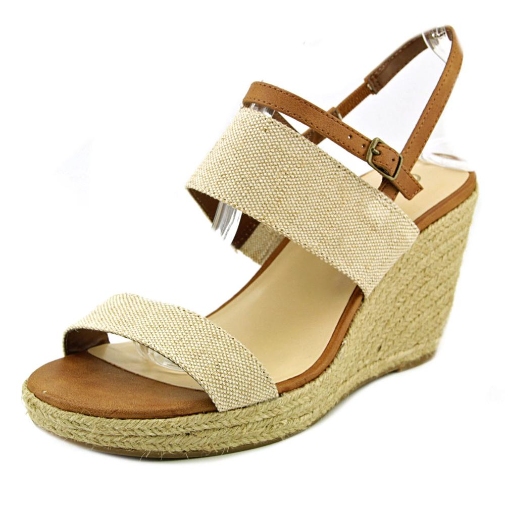 Bella Vita Grayson Women Open Toe Canvas Wedge Sandal by Bella Vita
