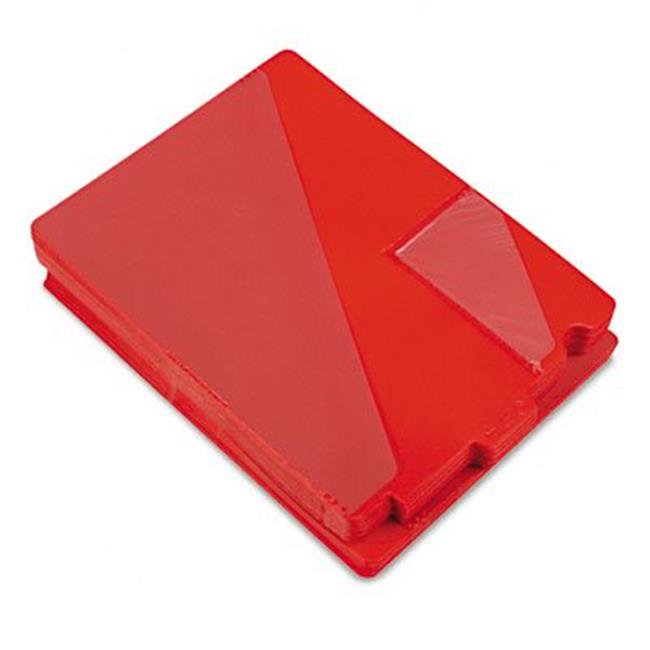 Out Guides with Diagonal-Cut Pockets  Vinyl  Letter  Red  50/ Box - image 1 of 1