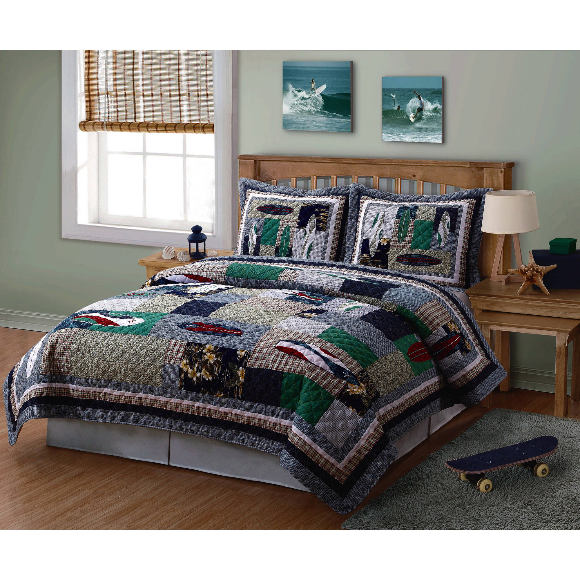 My World Surfing USA 3 Piece Quilt Set
