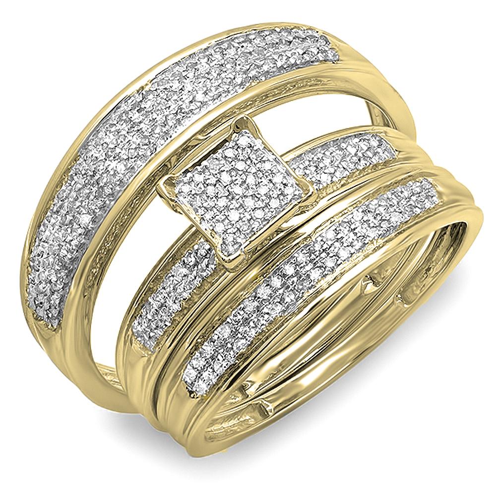 Dazzling Rock 0.50 Carat (ctw) 10K Yellow Gold Round Diam...