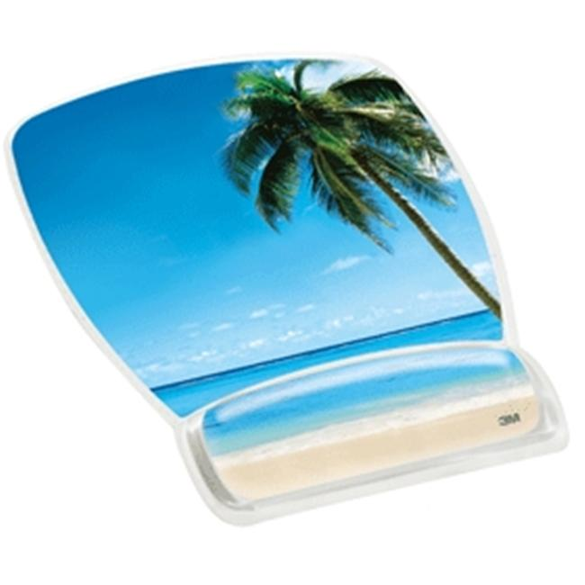 Designer Series Gel Mouse Pad Wrist Rest Compact Beach  Pack Of 6