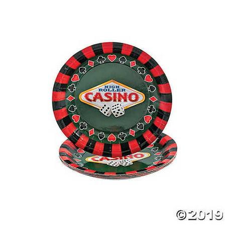 Casino Paper Dessert Plates - Casino Plates