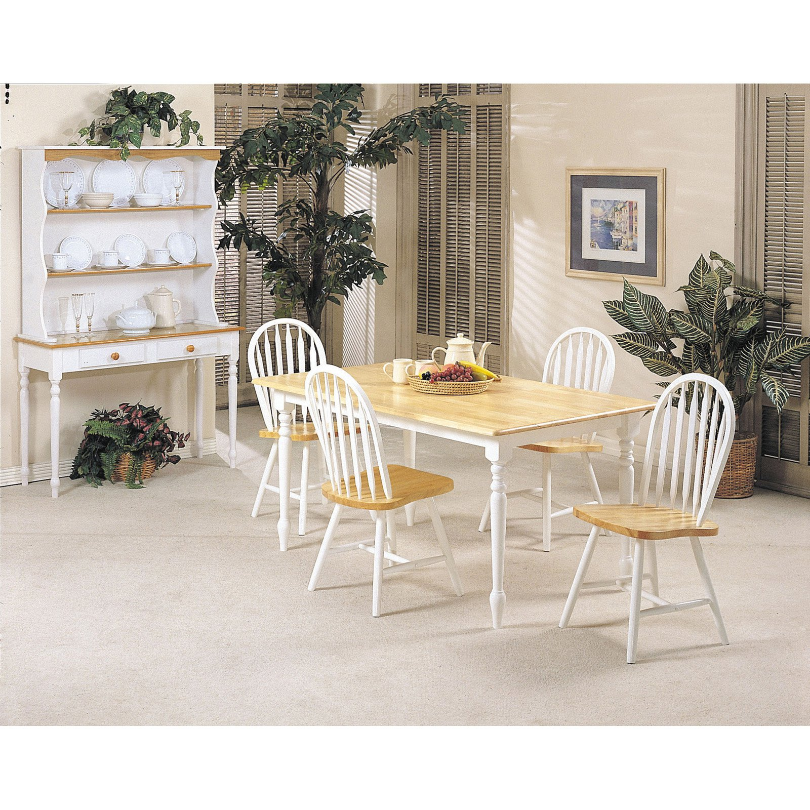ACME Fabrizio Dining Table, Natural & White