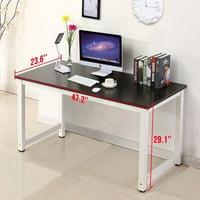 Computer Desk Wood Black PC Laptop Table Workstation Study Home Office Furniture