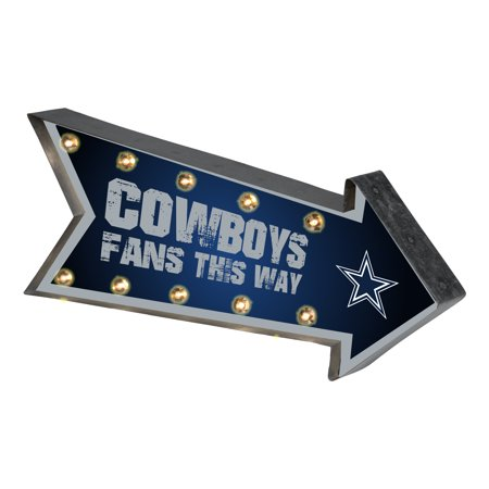 Nfl Pub Sign - Forever Collectibles  Arrow Light Up Marquee Sign, Dallas Cowboys