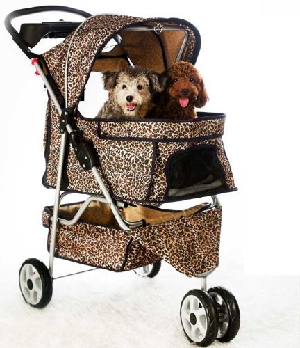 Bestpet NEW Extra Wide Leopard Skin 3 Wheels Pet Dog Cat ...