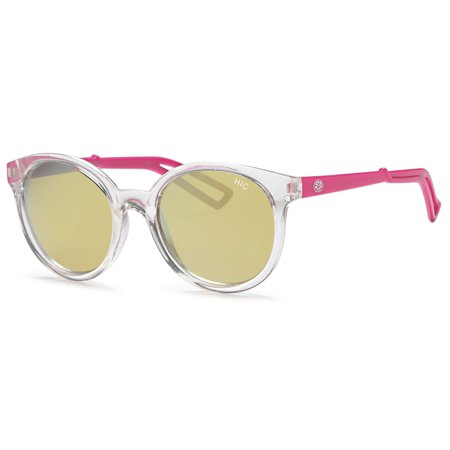 eca48b53ef1 Hawaiian Island Creations - Hawaiian Island Creations Retro Fashion Rendy  Style Kids Polarized Polycarbonate Sunglasses - Transparent Frame Pink Arms  ...