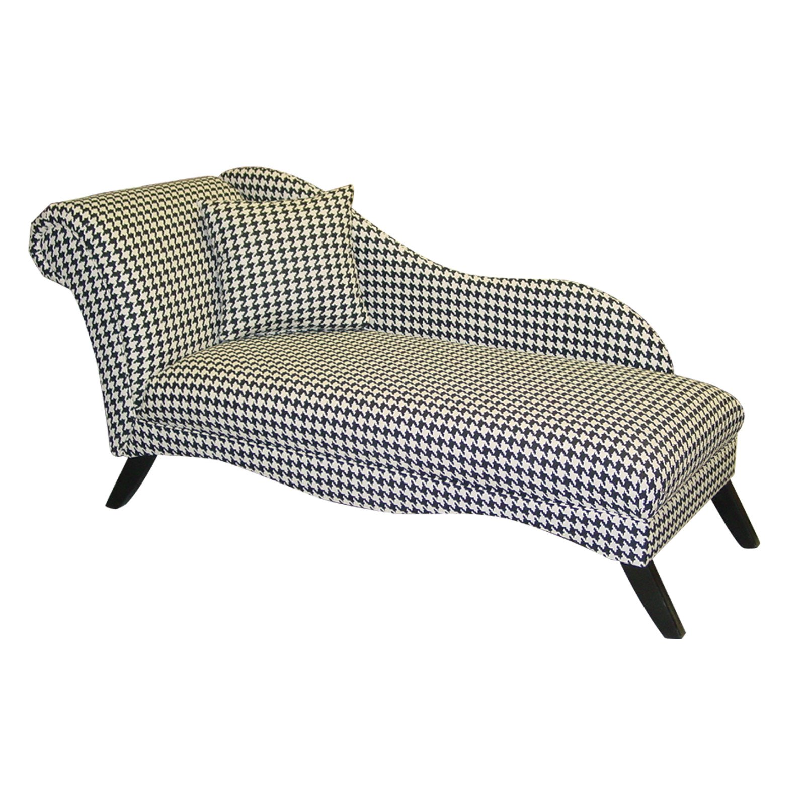 Cosmo Chaise Lounge - Hollywood Glam - Houndstooth