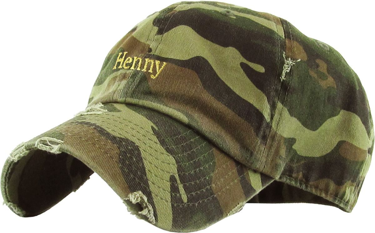 eda29a4eac4 ... coupon for henny camo vintage distressed dad hat adjustable baseball  cap flexfit nike adidas city hunter