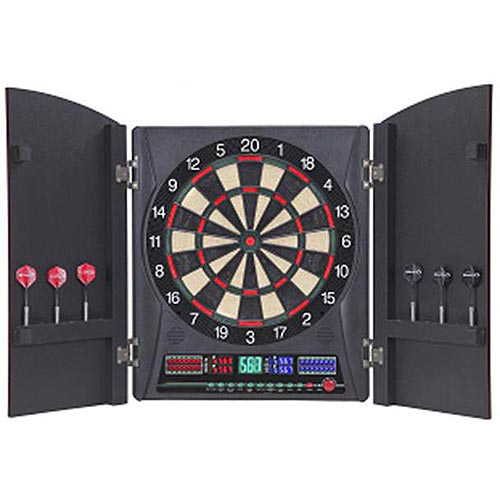 Bullshooter Marauder 5.0 Electronic Dartboard with Cabinet by Escalade Sports