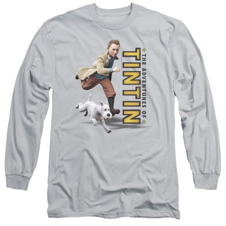The Adventures Of Tintin Comic Character Come On Snowy Adult Long Sleeve T-Shirt