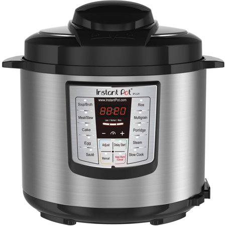 Instant Pot LUX60 6 Qt 6-in-1 Multi-Use Programmable Pressure Cooker, Slow Cooker, Rice Cooker, Sauté, Steamer, and (Best 10 Qt Pressure Cooker)