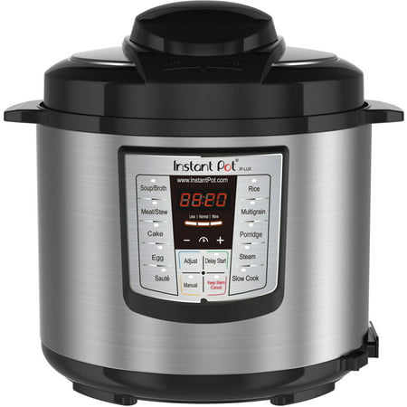 Instant Pot LUX60 6 Qt 6-in-1 Multi-Use Programmable Pressure Cooker, Slow Cooker, Rice Cooker, Saute, Steamer, and Warmer
