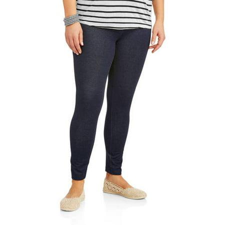 86078796f21 Faded Glory - Women s Plus-Size Essential Knit Leggings - Walmart.com