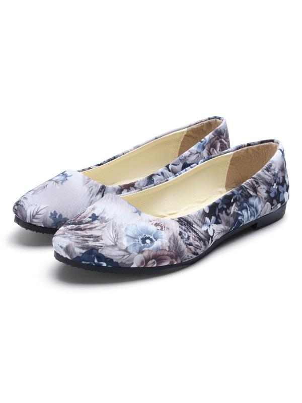 Womens Ballet Canvas Slip On Flat Loafer Ballerina Shoes Line Flip Sneaker