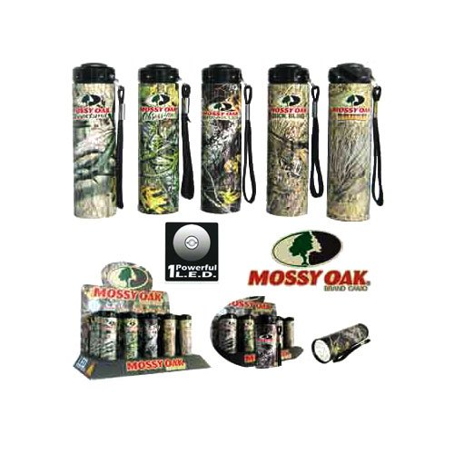 Powerful Focus One LED Flashlight (More Focus & Brighter than the flashlight with 9 Super Bright LEDs), 1 Powerful High intensity L.E.D By Mossy Oak