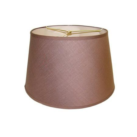 Brown Round Hardback Lamp (Round Brown)