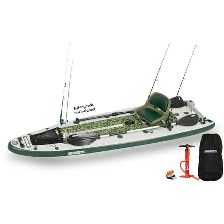 Sea Eagle FishSUP 126 Inflatable SUP Swivel Seat Fishing Rig Package