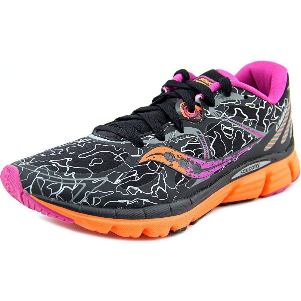 Saucony Kinvara 6 Runsheild Women  Round Toe Canvas Black Sneakers