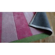 Rugby Pink Area Rug 5'x8' Kids Rug Girls