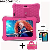 Dragon Touch Y88X Plus 7 inch Pink Kids Tablets Quad Core CPU Android 6.0 Lollipop IPS Display Kidoz Pre-Installed+Tablet bag+ Screen Protector for Kid