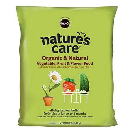 Scotts Miracle Gro 100132 Natures Care Organic Vegetable, Fruit & Flower Food, 8-Lbs.