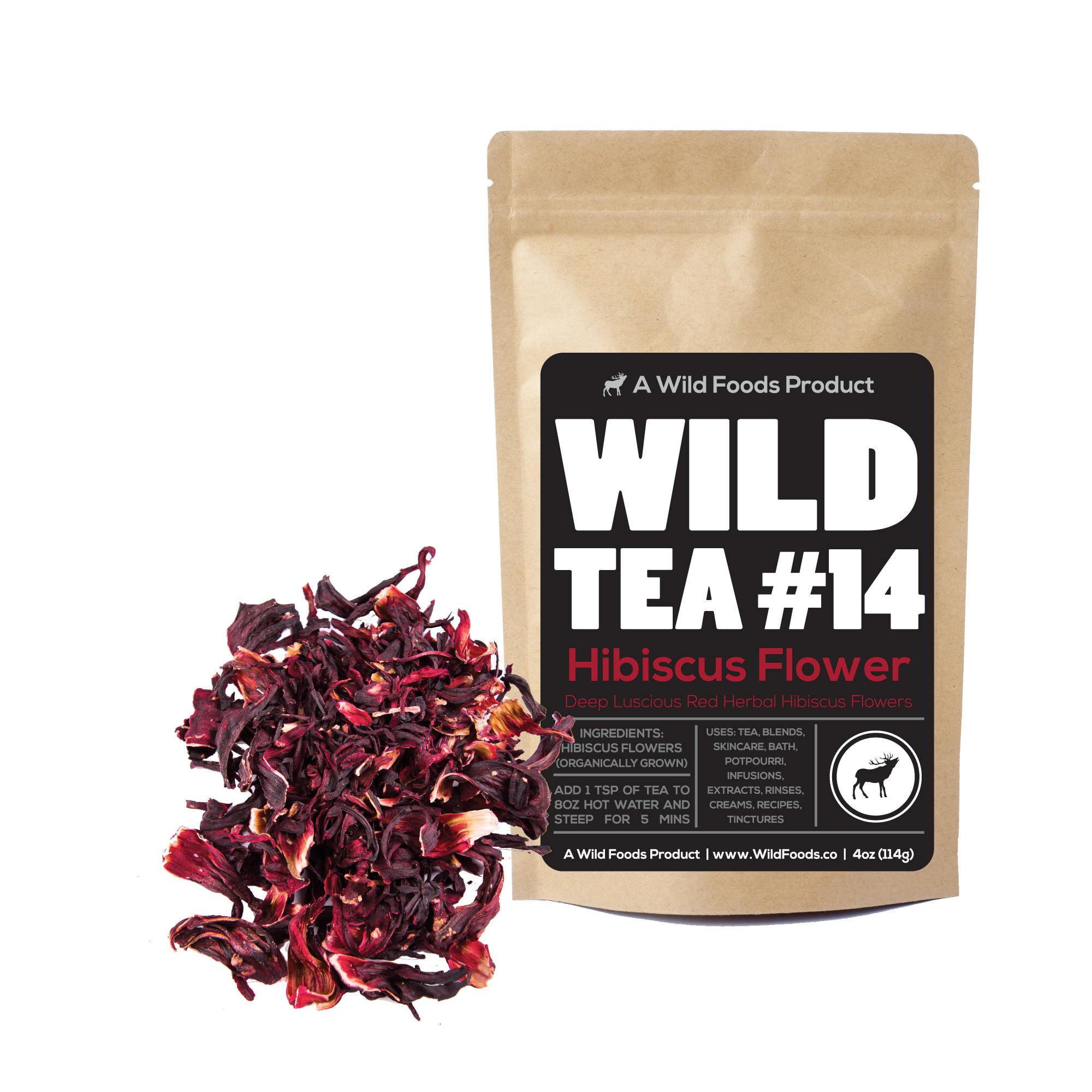 Wild foods wild tea 14 hibiscus flower loose leaf tea 4oz wild foods wild tea 14 hibiscus flower loose leaf tea 4oz walmart izmirmasajfo