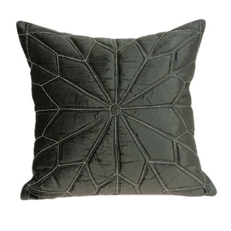 Parkland Collection PILD11132D Lolu Grey & Silver Square Transitional Pillow Cover with Down Insert - 20 x 20 x 7 in. - image 1 of 1