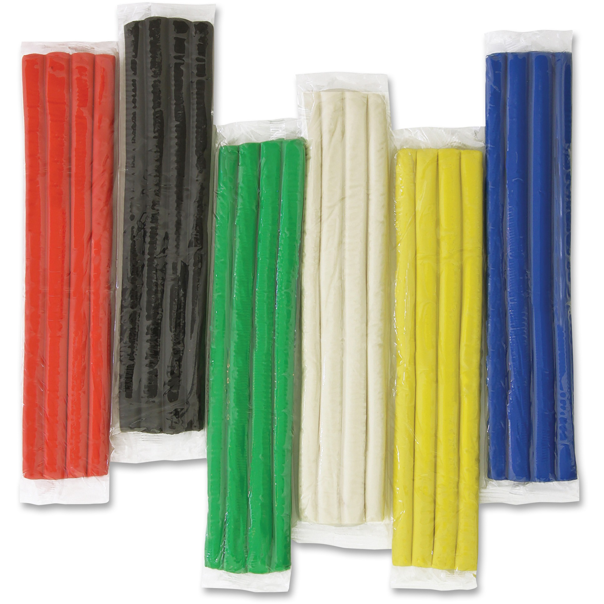 Creativity Street, CKC4080, Extruded Modeling Clay, 6 / Pack, Red,Blue,Green,Yellow,White,Black