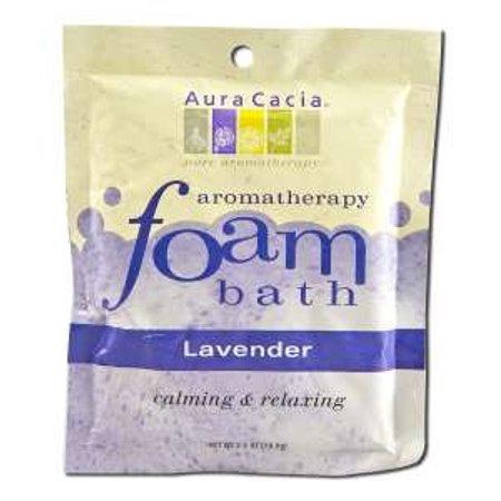 Aromatherapy Foam Bath Lavender Aura Cacia 2.5 oz Foam Bath