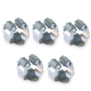 Mop and Broom Holder Wall Mounted Garden Storage Rack (Grey), 5pcs Pack