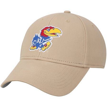 Men's Khaki Kansas Jayhawks Basic Adjustable Hat - OSFA (Kansas Jayhawks Santa Hat)