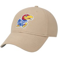 Men's Khaki Kansas Jayhawks Basic Adjustable Hat - OSFA
