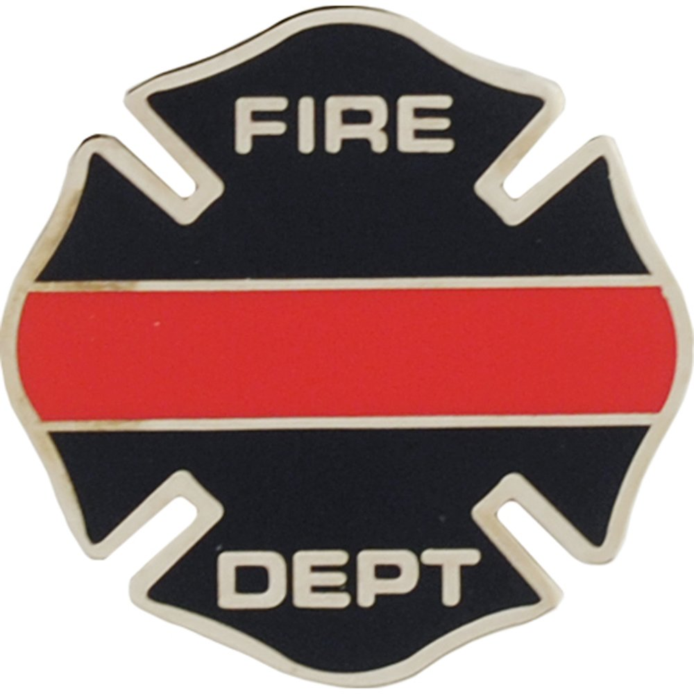 Fire Station Sign Pin 1""
