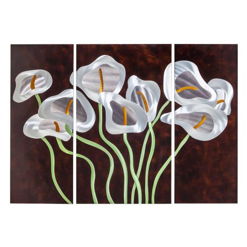 Nova Lighting 3710272 Calla Lilies 3 Piece Wall Art