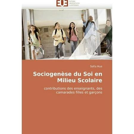 Sociogense Du Soi En Milieu Scolaire - image 1 of 1