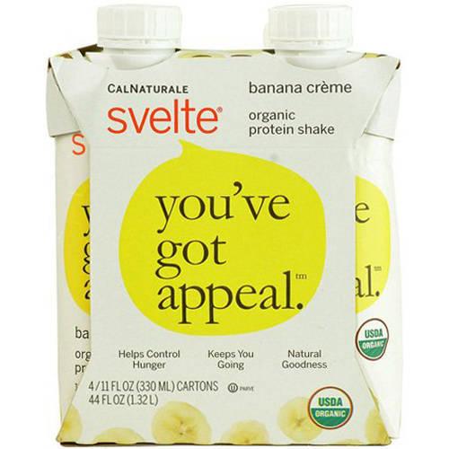 Calnaturale Svelte Organic Banana Creme, 11 FL OZ (Pack of 6)